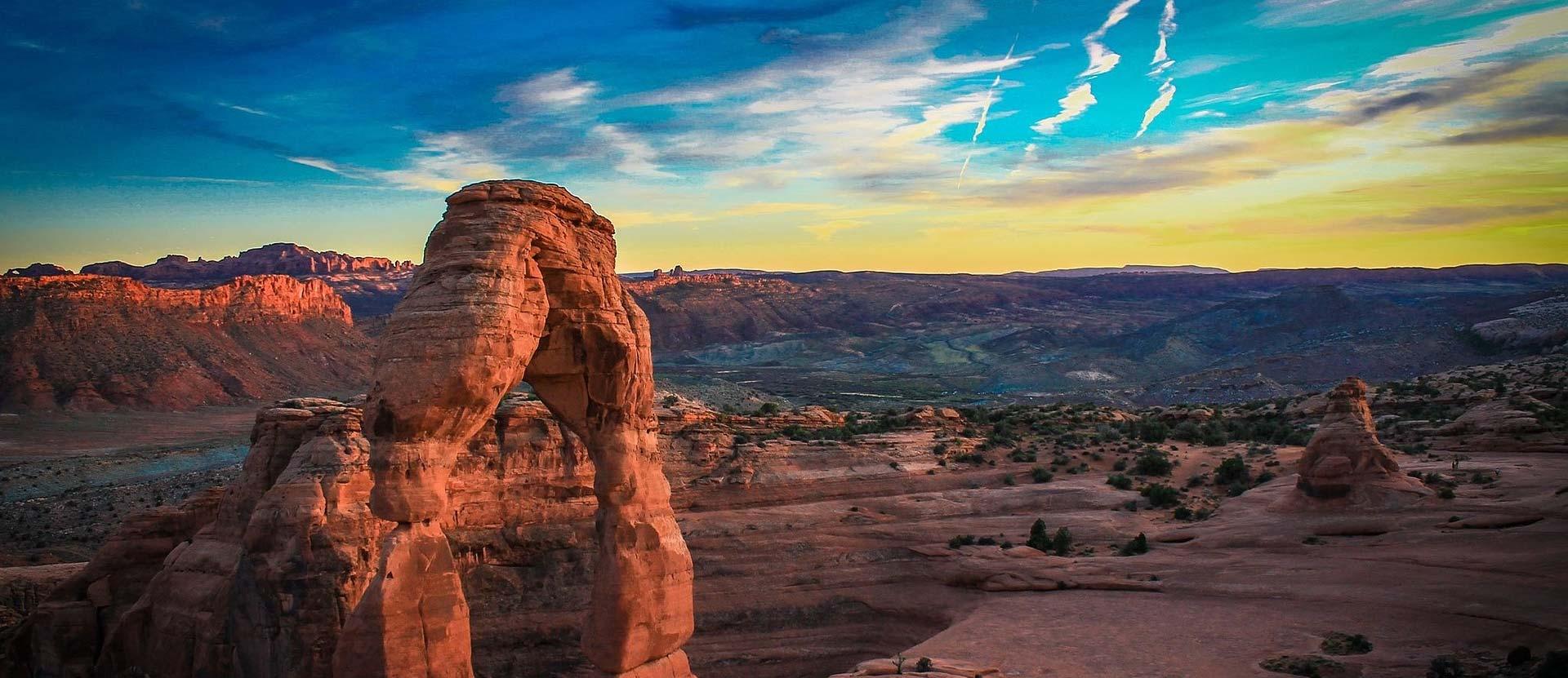 Eine Wüste in den USA